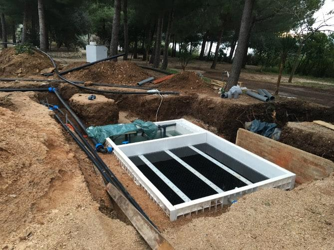 Jupiter one chamber system for 100 m3 wastewater installed in Croatia