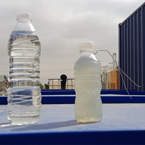 Treated wastewater from a small Biokube system can be safely reused, typically for irrigation