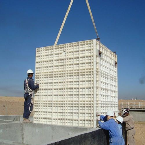 BioKube BioReactor systems under installation at oil camp in Yemen