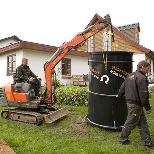 BioKube Venus 5 PE Waste Water system under installation in Denmark
