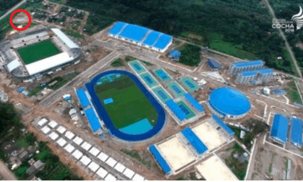 BioKube sewage treatment plant BioReactor installed at a new Sports village in Bolivia