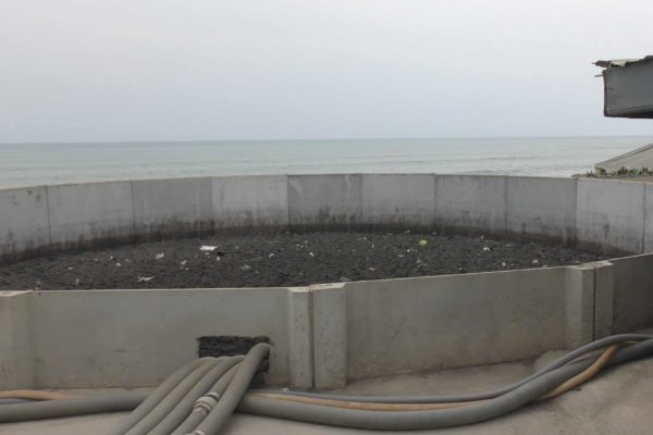 Buffertank at BioKube system at Lavender Hill Ghana