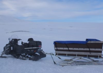 Jupiter à l'hôtel de ski et de randonnée en montagne dans le nord de la Suède